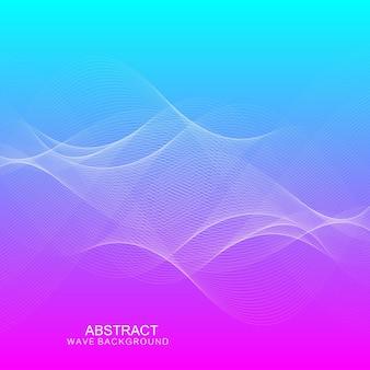 Fond de vague abstraite. illustration vectorielle