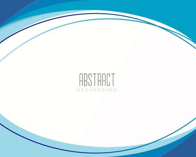 Fond de vague bleue abstraite moderne