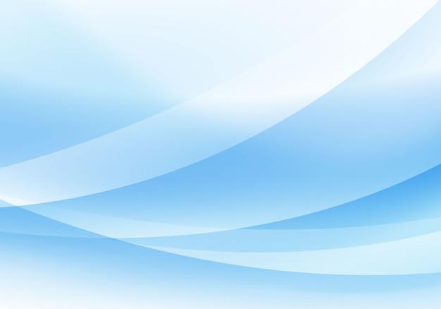 Fond de vague bleue douce illustration vectorielle