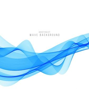Fond de vague bleue élégante moderne