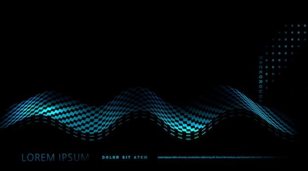 Fond avec vague bleue