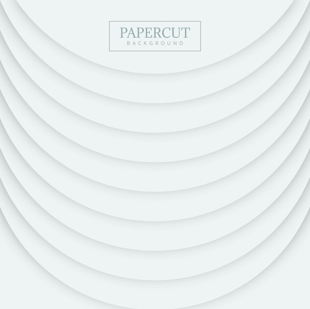 Fond de vague de cercle de forme élégante papercut