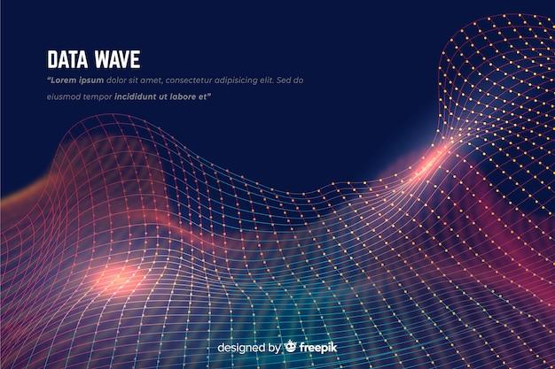 Fond de vague de données