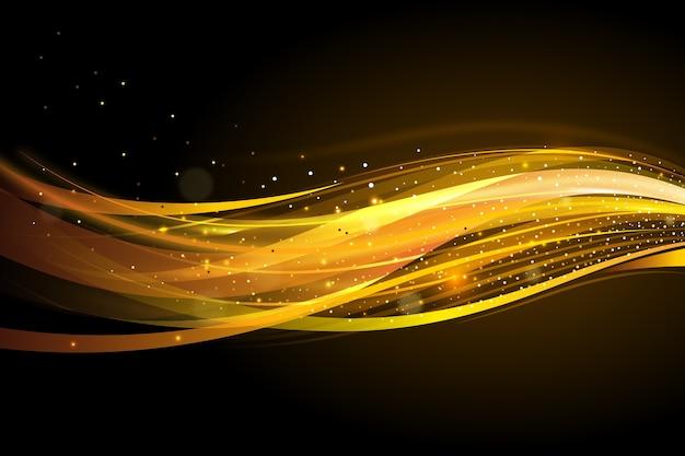 Fond de vague dorée brillante