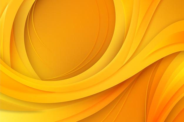 Fond de vague dorée lisse