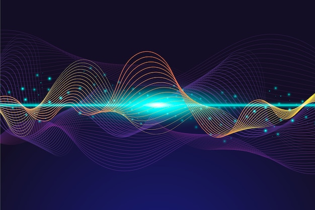 Fond de vague d'égaliseur abstrait