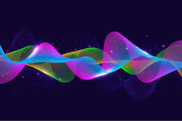 Fond de vague d'égaliseur coloré
