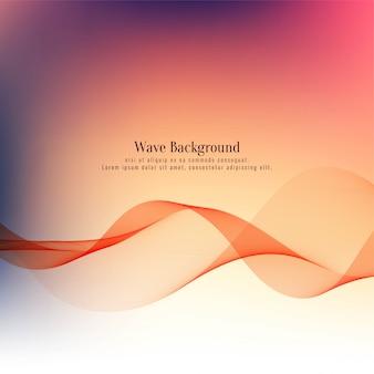 Fond de vague élégante colorée moderne