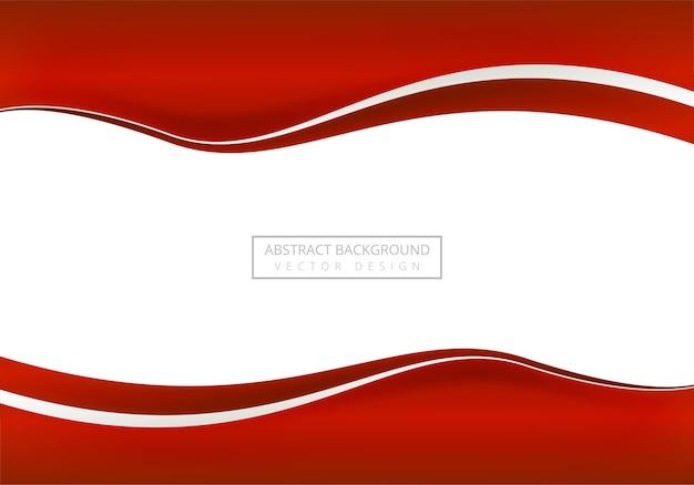 Fond de vague élégante entreprise rouge