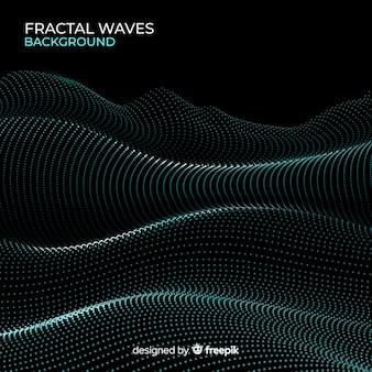 Fond de vague de grille fractale rougeoyante