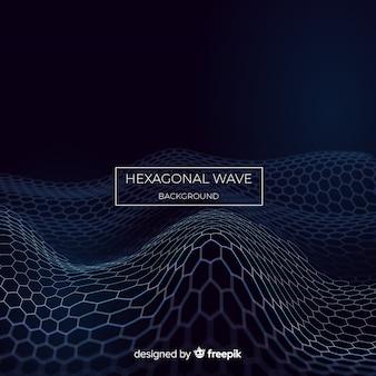 Fond vague hexagonale