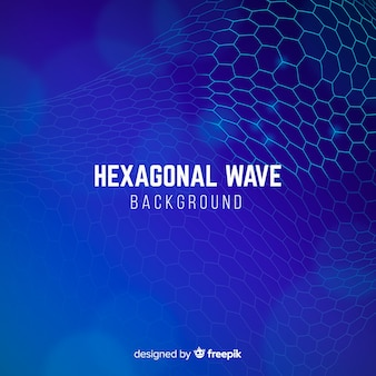 Fond vague hexagonale