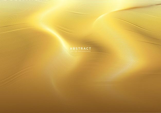 Fond de vague d'or lisse