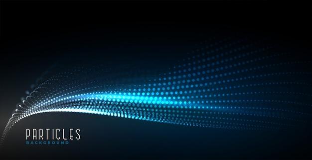 Fond de vague de particules de technologie numérique abstraite