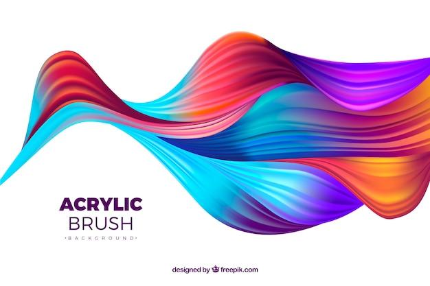 Fond de vagues abstraites colorées