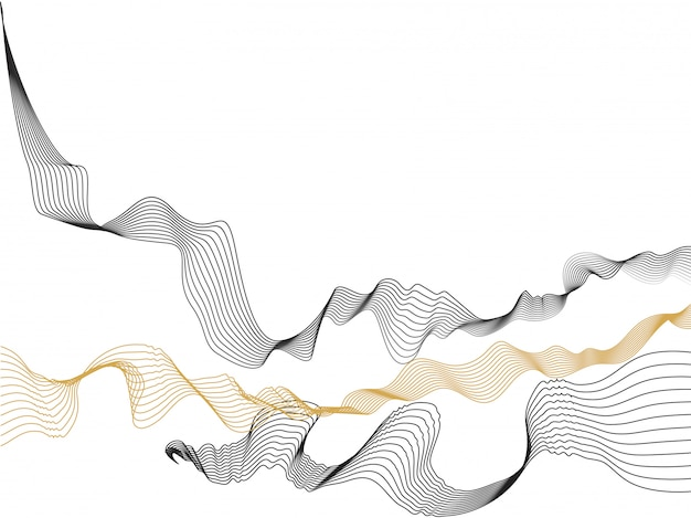 Fond de vagues abstraites