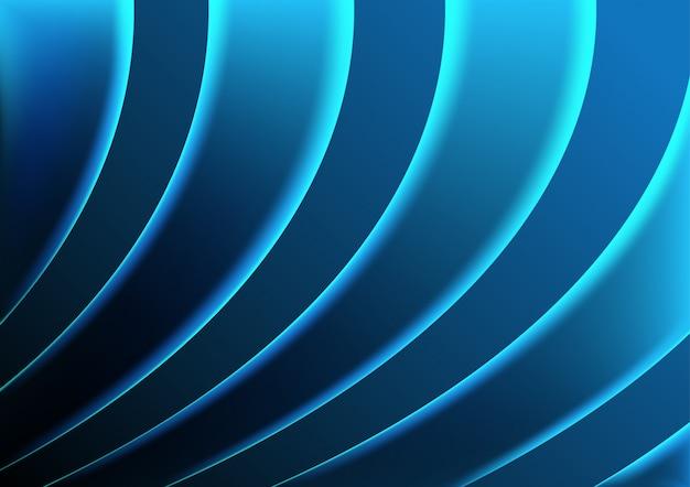 Fond de vagues bleues éclairées