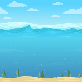 Fond de vagues d'eau.