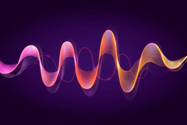 Fond de vagues d'égaliseur abstrait