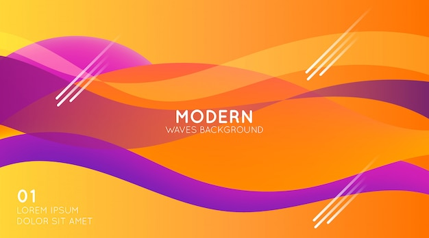 Fond de vagues modernes