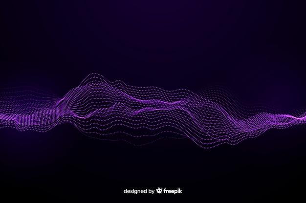Fond de vagues de particules abstraites égaliseur
