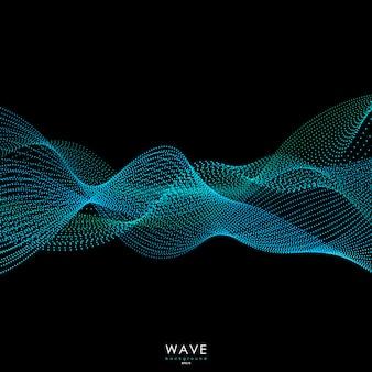Fond de vagues de particules qui coule.