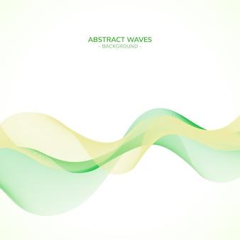 Fond de vagues vertes abstraites