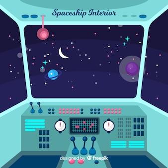 Fond de vaisseau spatial de l'intérieur