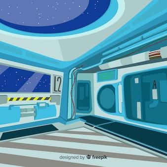 Fond de vaisseau spatial
