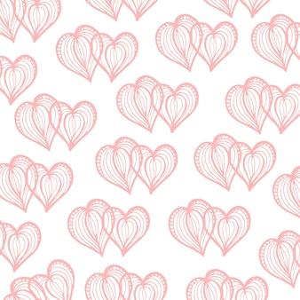 Fond de valentine dessiné à la main