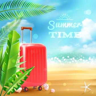 Fond de valise de voyage