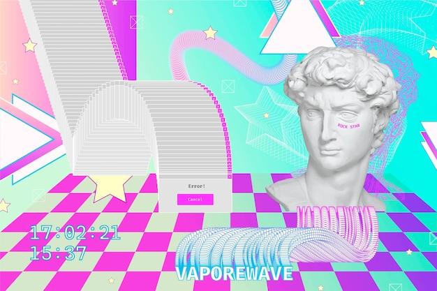 Fond de vaporwave vintage linéaire