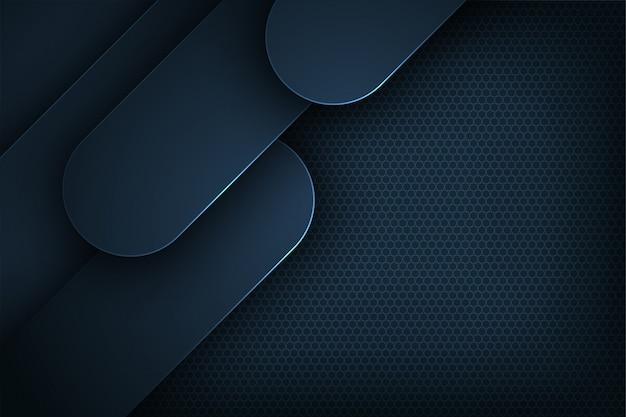 Fond de vecteur abstrait bleu foncé avec chevauchement