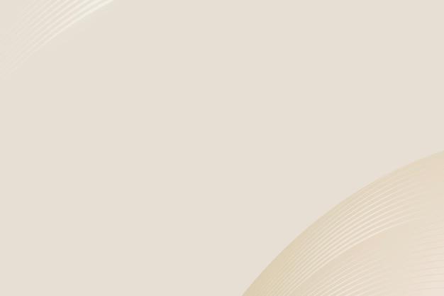 Fond de vecteur abstrait courbe beige