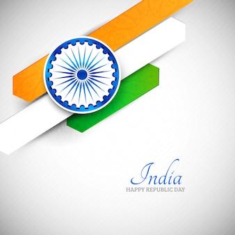 Fond de vecteur abstrait créatif drapeau indien