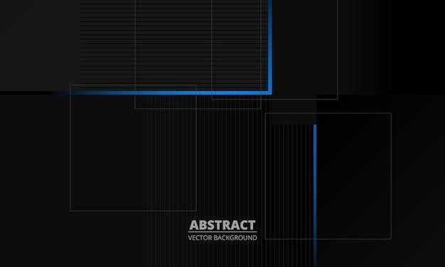 Fond de vecteur abstrait entreprise élégance gris foncé avec des lignes bleues et grises
