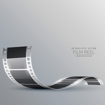 Fond de vecteur de bande de film propre