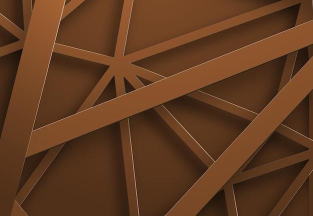 D'un fond de vecteur avec des bandes métalliques orange en cascade, des parties du réseau.