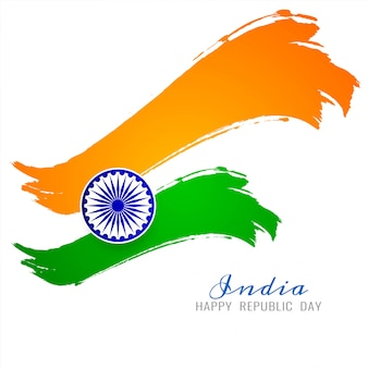 Fond de vecteur belle thème drapeau indien