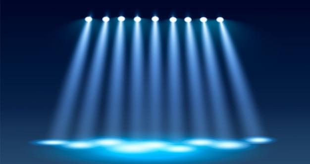 Fond de vecteur bleu spotlight. illustration vectorielle