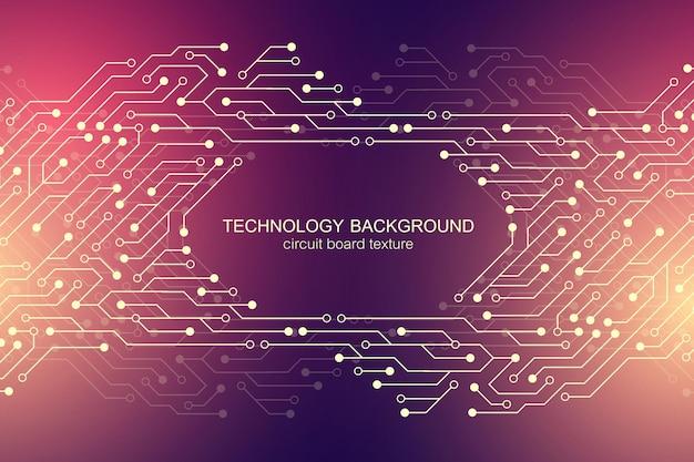 Fond de vecteur de carte mère d'ordinateur avec éléments électroniques de carte de circuit imprimé. texture électronique pour la technologie informatique, concept d'ingénierie. illustration abstraite générée par ordinateur de la carte mère.