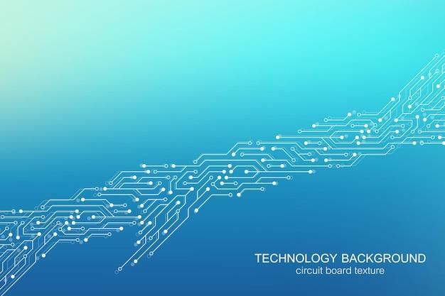 Fond de vecteur de carte mère d'ordinateur avec éléments électroniques de carte de circuit imprimé. texture électronique pour la technologie informatique, concept d'ingénierie. illustration informatique intégrée de la carte mère.