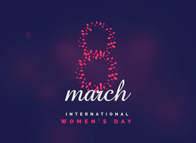 Fond de vecteur célébration internationale jour de la femme