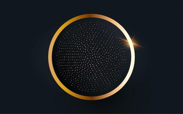 Fond de vecteur cercle image or.
