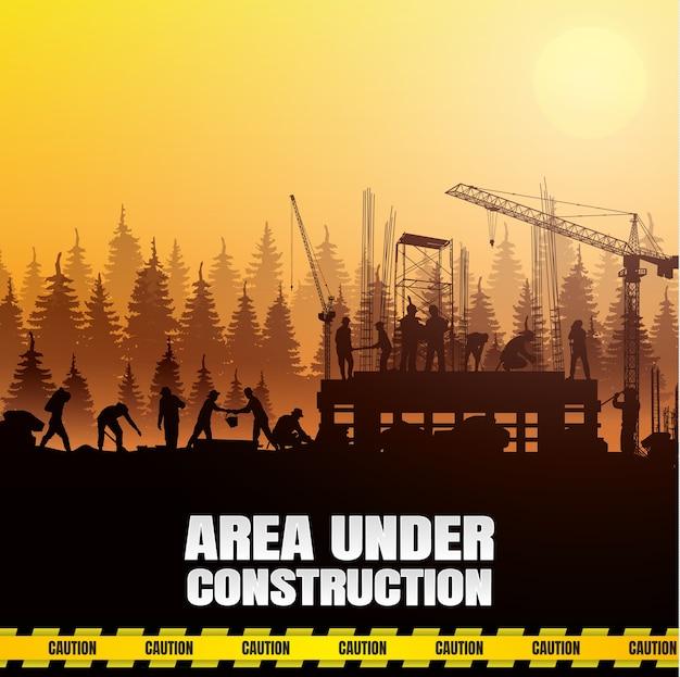 Fond de vecteur de construction.