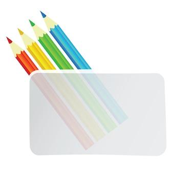 Fond de vecteur de crayons colorés avec bannière pour texte