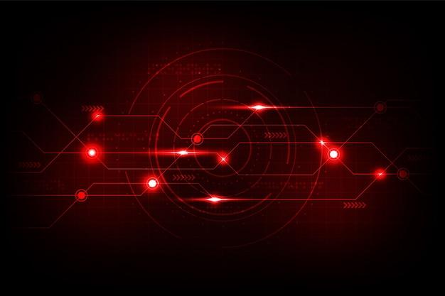Fond de vecteur dans le concept de circuit.