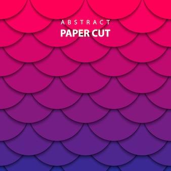 Fond de vecteur avec du papier de couleur dégradée coupé