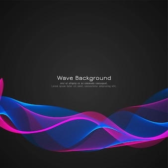 Fond de vecteur élégant moderne vague colorée