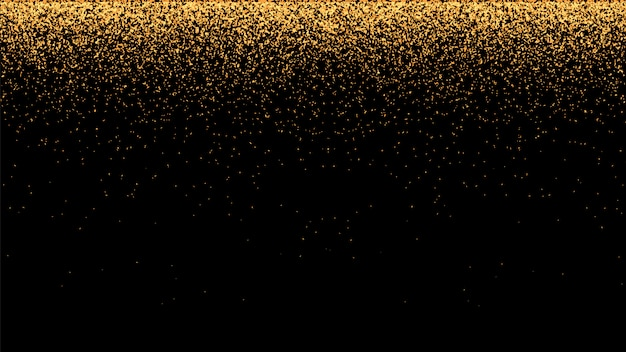Fond de vecteur festif avec des paillettes d'or et des confettis pour la fête de noël.
